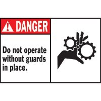 Machine Warning Labels - Do Not Operate Without Guards
