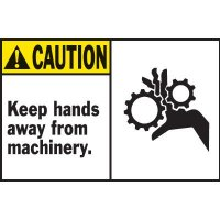 Machine Warning Labels - Keep Hands Away From Machinery