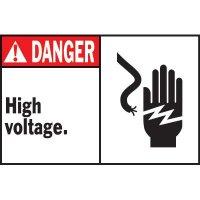 Machine Warning Labels - Danger High Voltage