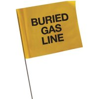 Marking Flags - Buried Gas Line