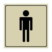 Men's Restroom Sign with Engraved Symbol