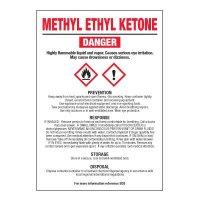 Methyl Ethyl Ketone - GHS Chemical Labels