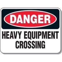 Mining Site Traffic Warning Signs - Danger Heavy Equipment Crossing