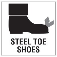 Steel Toe Shoes Sign