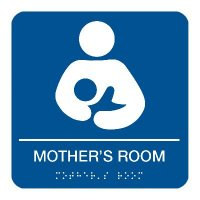 Mother's Room - Graphic Braille Signs