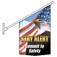 Motivational Pole Banner Kit - Stay Alert Commit To Safety