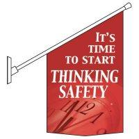 Start Thinking Safety Pole Banner