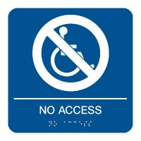 No Access - Graphic Braille Signs