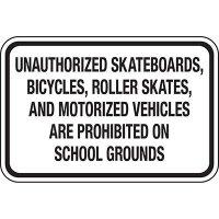 No Bikes, Skateboards, Skates at School