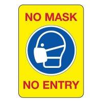 COVID-19 Signs - No Mask No Entry