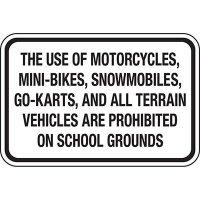 No Motorized Vehicles On School Grounds