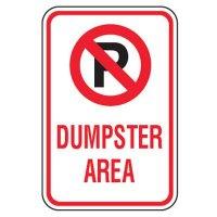 No Parking Signs - Dumpster Area (No Parking Symbol)