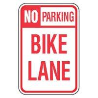 No Parking Signs - No Parking Bike Lane
