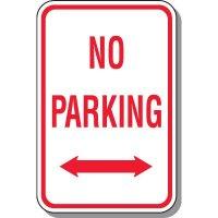 No Parking Signs - Double Arrow