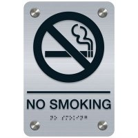 No Smoking - Premium ADA Facility Signs