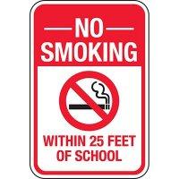 No Smoking Within 25 Feet Sign