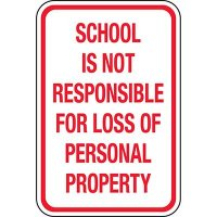 Not Liable For Property: School Property