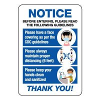 Notice Before Entering Please Read Guidelines Sign