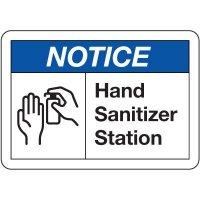 Notice Hand Sanitizer Station Sign