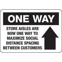 One Way Store Aisles Signs