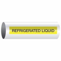 Opti-Code™ Self-Adhesive Pipe Markers - Refrigerated Liquid
