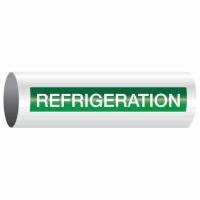 Opti-Code™ Self-Adhesive Pipe Markers - Refrigeration