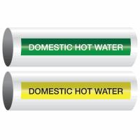 Opti-Code™ Self-Adhesive Pipe Markers - Domestic Hot Water