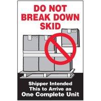 Break Down Package Handling Label