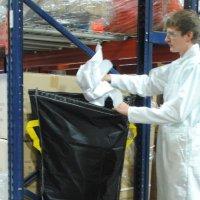 Vestil Pallet Rack Trash Bags PRTD-TB-BK