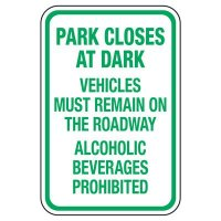 Park Closes At Dark - Playground Sign