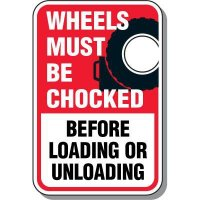 Property Protection Signs - Wheels Must Be Chocked