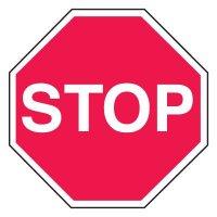 Plant Traffic Mini Stop Signs