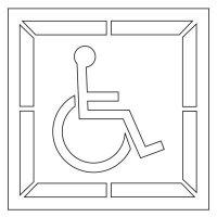 Pavement Tool Plastic Graphic Stencils - Handicap Symbol (Set of 2) S-3030 D