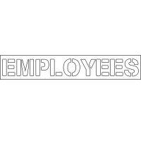 Plastic Word Stencils - Employees