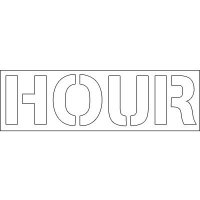 Plastic Word Stencils - Hour