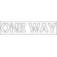 Plastic Word Stencils - One Way