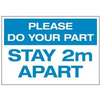 Please Do Your Part Stay 2M Apart Decal
