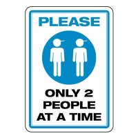 Please Only 2 People at a Time Boys Room Sign