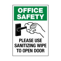 Please Use Sanitizing Wipe Label