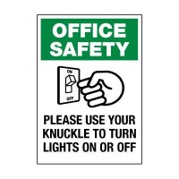 Please Use Your Knuckle Label