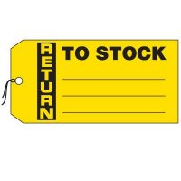 Production Control Tags - Return to Stock