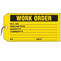 Production Control Tags - Work Order