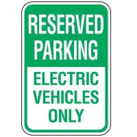 Property Parking Signs - Reserved Parking Electric Vehicles