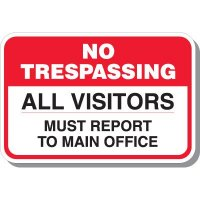 Visitors Report To Office Signs