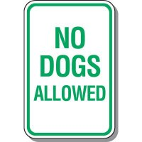 Property Protection Signs - No Dogs Allowed