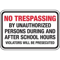 Property Security Signs - No Trespassing