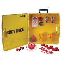 Ready Access Electrical Lockout Station with Steel Padlocks