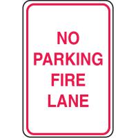 Plastic No Parking Signs - No Parking Fire Lane