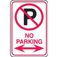 Plastic No Parking Signs - No Parking
