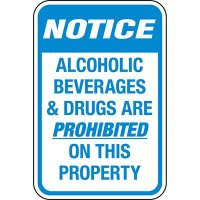 Reflective Parking Lot Signs - Alcohol & Drugs Prohibited